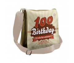100 Old Party Invite Messenger Bag