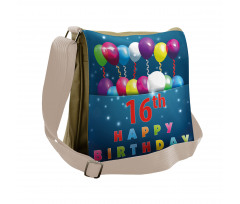 16 Party Messenger Bag