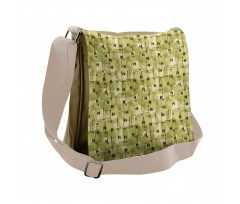 Abstract Autumn Garden Messenger Bag
