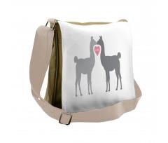 2 Animals in Love Messenger Bag