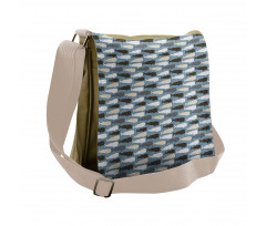 Abstract Art Silhouettes Messenger Bag