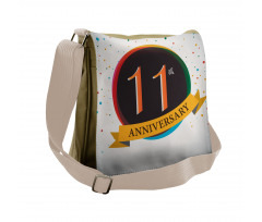 11 Year Retro Style Messenger Bag