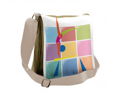 Abstract Athlete Messenger Bag