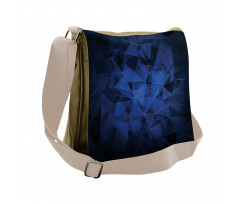Abstract Atomic Stars Messenger Bag
