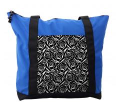 Abstract Art Rose Flowers Shoulder Bag