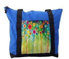 Abstract Art Dandelion Shoulder Bag
