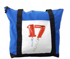 17 Party Red Balloons Shoulder Bag