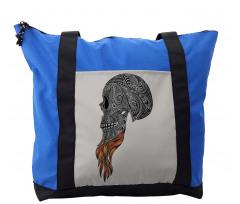 Abstract Art Skull Beard Shoulder Bag