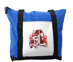 18 Wheeler Silhouette Shoulder Bag