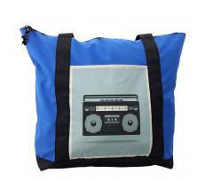 1980s Boombox Image Shoulder Bag