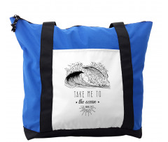 1986 Ocean Surf Waves Shoulder Bag