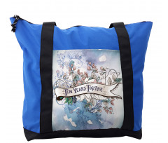 10 Years Floral Art Shoulder Bag