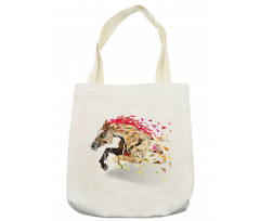 Abstract Art Wild Horse Tote Bag