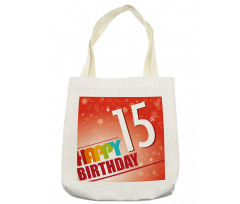 15th Birthday Concept Tote Bag