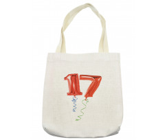 17 Party Red Balloons Tote Bag