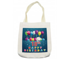 18 Birthday Balloons Tote Bag