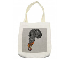 Abstract Art Skull Beard Tote Bag