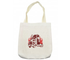 18 Wheeler Silhouette Tote Bag