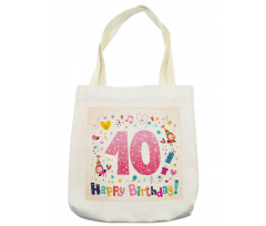10 Years Kids Birthday Tote Bag
