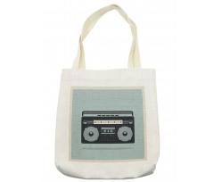 1980s Boombox Image Tote Bag
