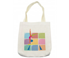 Abstract Athlete Tote Bag