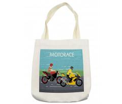 2 Bikers Racing Tote Bag