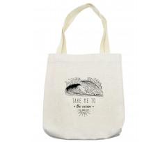 1986 Ocean Surf Waves Tote Bag