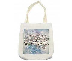 10 Years Floral Art Tote Bag
