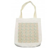 Abstract Art Floral Doodle Tote Bag
