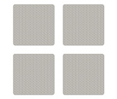 Abstract Art Grid Coaster Set Of Four
