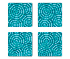 Abstract Australian Dots Coaster Set Of Four