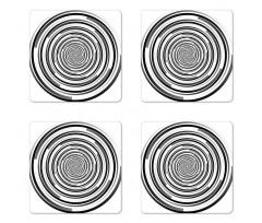Abstract Art Spirals Coaster Set Of Four