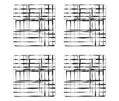 Abstract Art Geometric Coaster Set Of Four