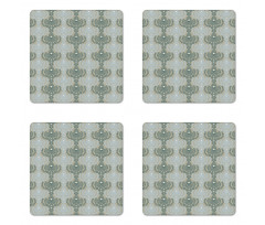 Abstract Art Floral Coaster Set Of Four
