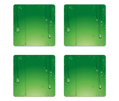 Abstract Art Water Drops Coaster Set Of Four