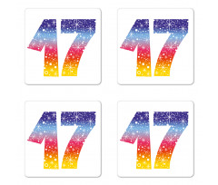 17 Party Coaster Set Of Four