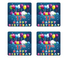 17 Birthday Coaster Set Of Four