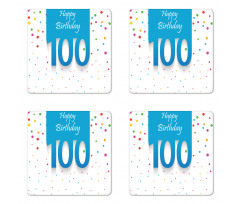 100 Years Birthday Coaster Set Of Four