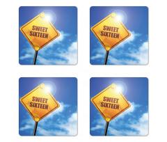 16 Road Coaster Set Of Four