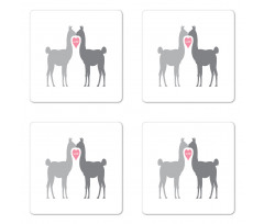 2 Animals in Love Coaster Set Of Four