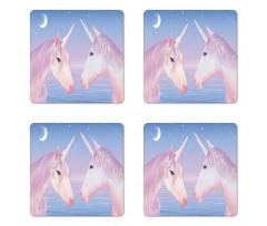 2 Akhal Teke Unicorns Coaster Set Of Four