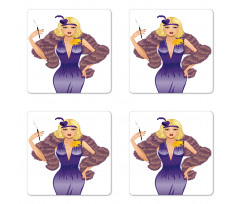 1930s Style Blondie Coaster Set Of Four