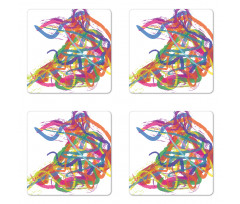 Abstract Art Dancer Coaster Set Of Four