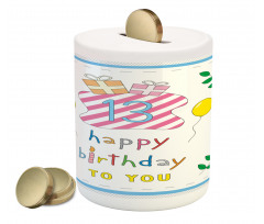 13th Birthday Gifts Piggy Bank