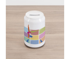Abstract Athlete Can Piggy Bank