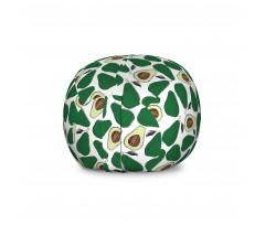 Avokado Pelüş Oyuncak Çuvalı İç ve Dış Yüzü Gözüken Tekrarlı Doğal Meyve