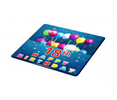 18 Birthday Balloons Cutting Board