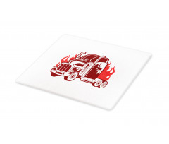 18 Wheeler Silhouette Cutting Board