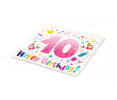 10 Years Kids Birthday Cutting Board