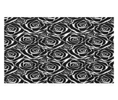 Abstract Art Rose Flowers Doormat